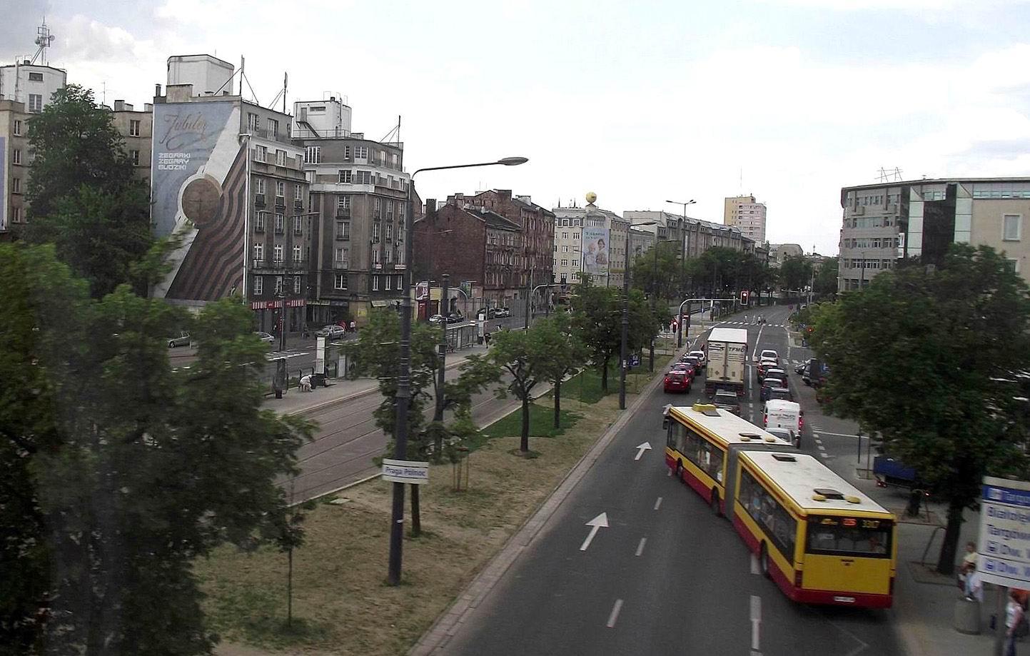 Вид из окна поезда в Варшаве