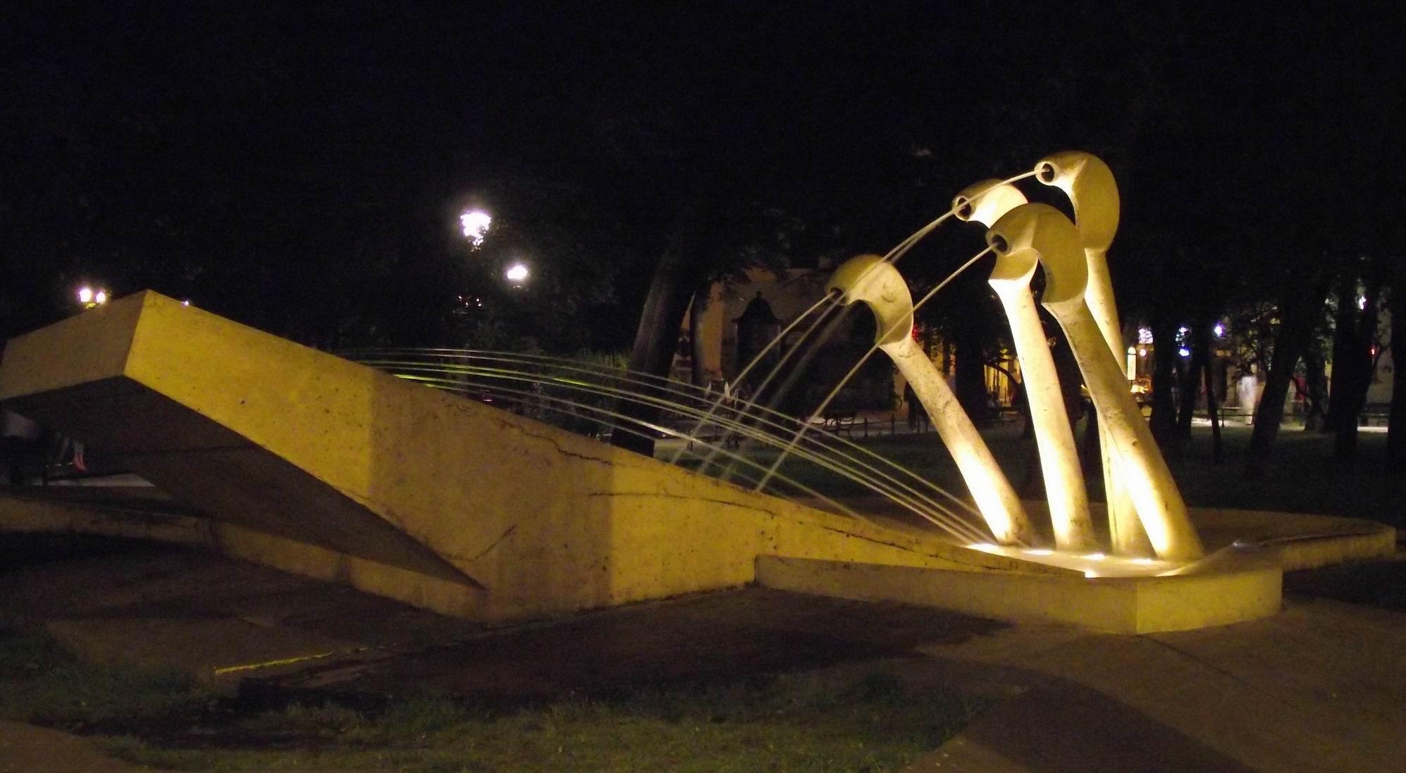 Краков - авангардный фонтан