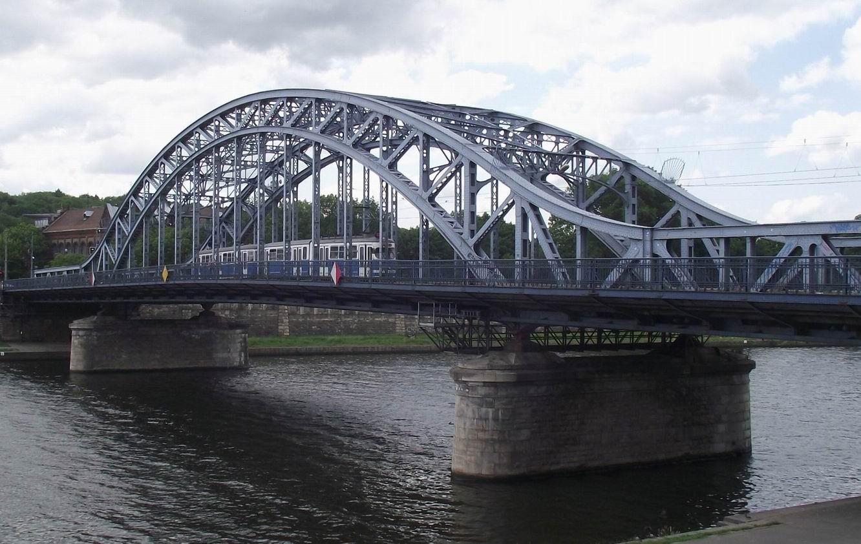 Краков - мост через Вислу из Казимежа