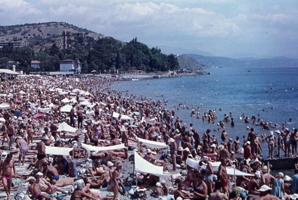 Пляжи в СССР или спасибо, родители krym_turizm_otdyh
