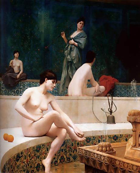 A-Bath-Woman-Bathing-Her-Feet-Harem-Pool-1889