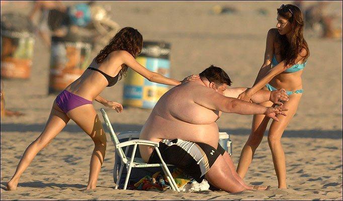 Толстый мужик и худая