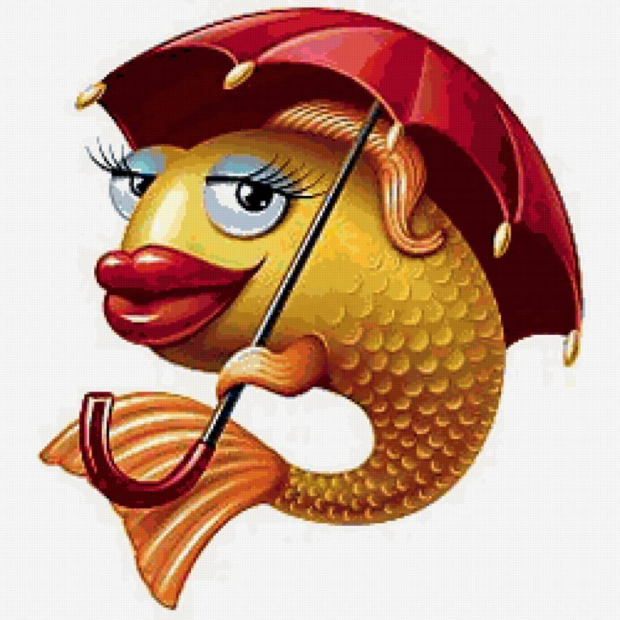 Смешные картинки, картинка прикольная золотая рыбка