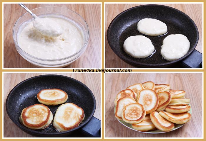 Рецепт приготовления пышных оладьев