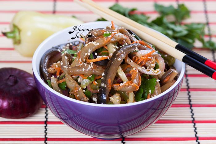 Салат с баклажанами по-корейски с фото