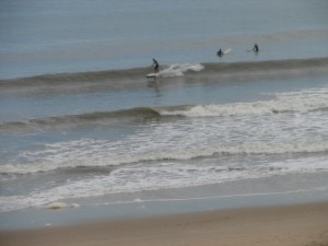Surfers at Virginia Beach