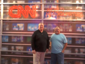 Jim and Don Walker at CNN World Headquaters in Atlanta