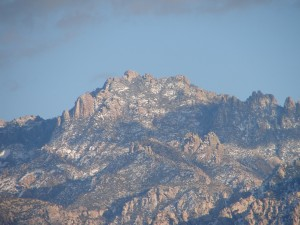 Snow on Catallina Mountains - Oro Valley (1)