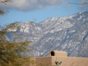 Snow on Catallina Mountains - Oro Valley (2)