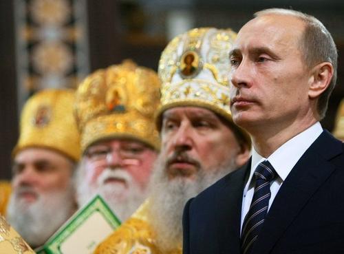 Путин и попы
