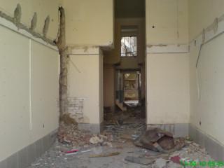 Binanın boşaldılmış sahələri belə vəziyyətə salınmışdır