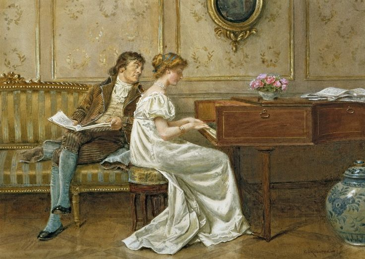 George Goodwin Kilburne (1839-1924), The New Spinet