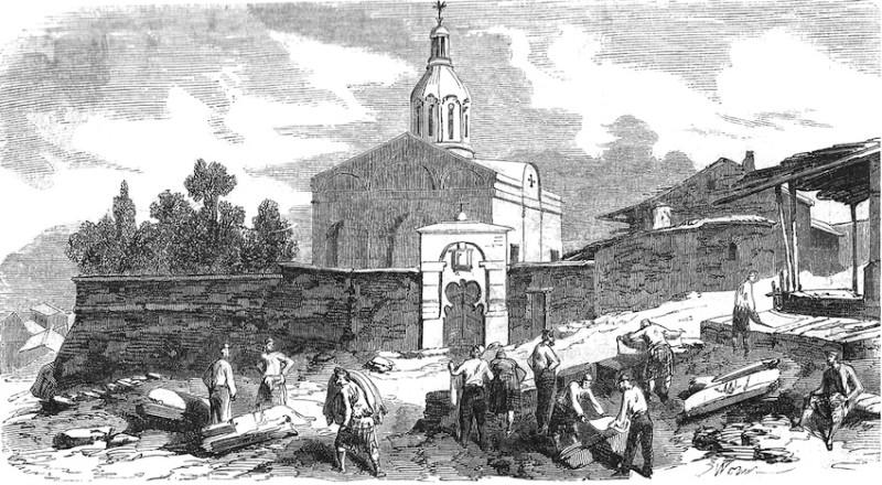 Успенская церковь в оккупированном союзными войсками Еникале. Из нашей коллекции.