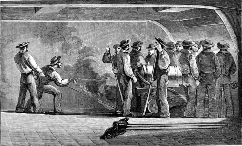 Морская артиллерия середины XIX века