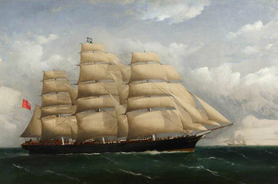 «Катти Сарк». Картина 1872 года, художник Frederick J. Tudgay