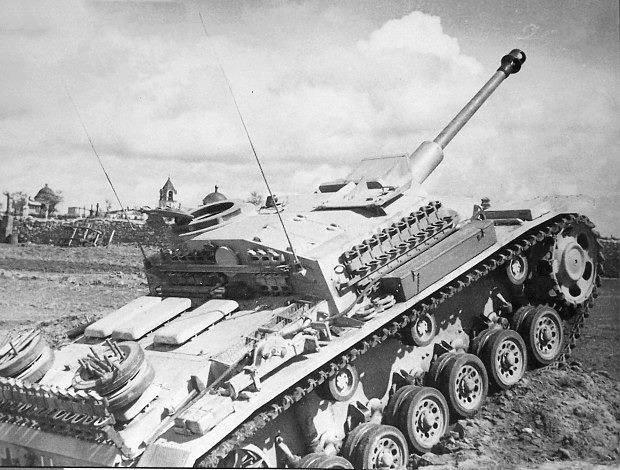 """""""Немецкое штурмовое орудие «StuGIII» (из американского архива NARA)"""