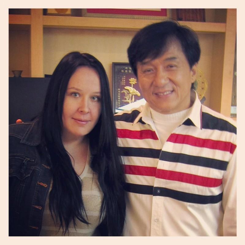 Лена с Джеки Чаном