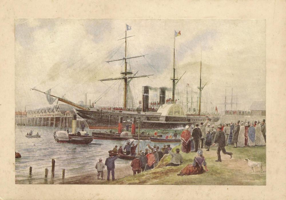 Пароход «Райпон», активно использованный англичанами для транспортировки грузов на Керченский полуостров, а также для вывоза беженцев из Керчи