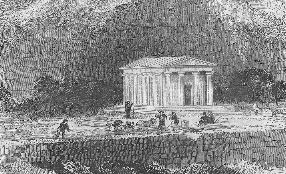 Главный пороховой погреб оккупационного контингента в здании Музеума (Гравюра из личной коллекции А. Миргородского)