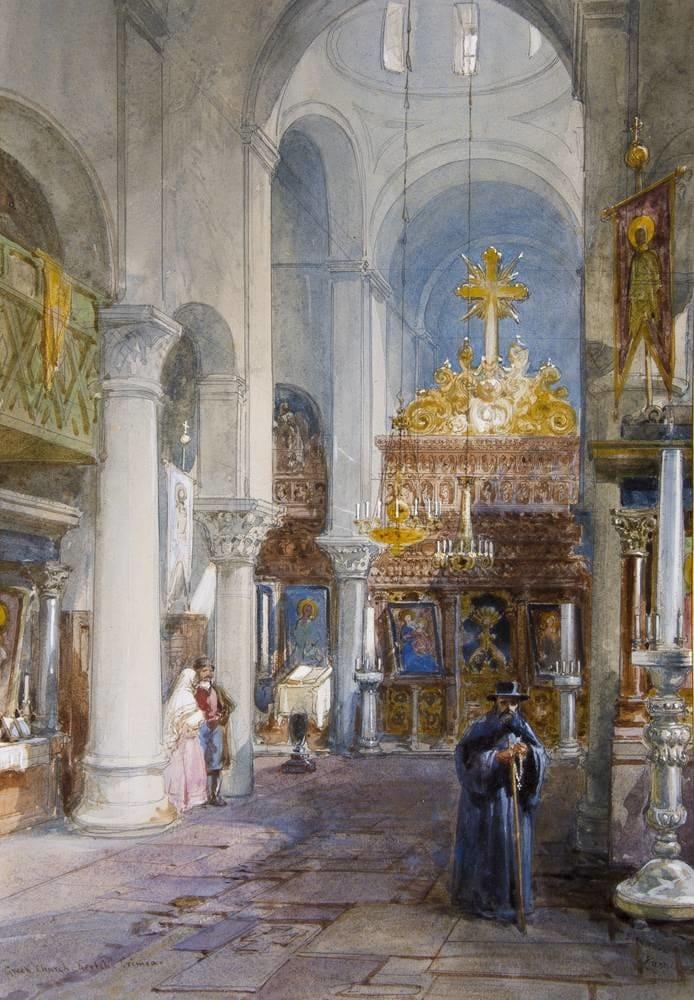 У. Симпсон «Греческий храм в Керчи. 1855». Сам рисунок датирован 1867 годом.