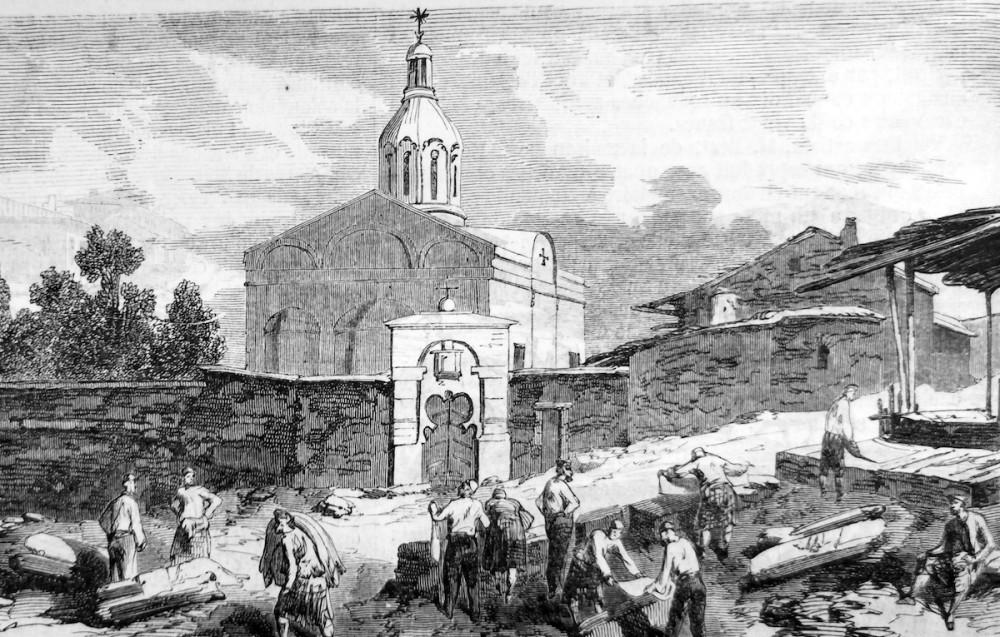 Церковь в Еникале. Гравюра из личной коллекции нашей редакции