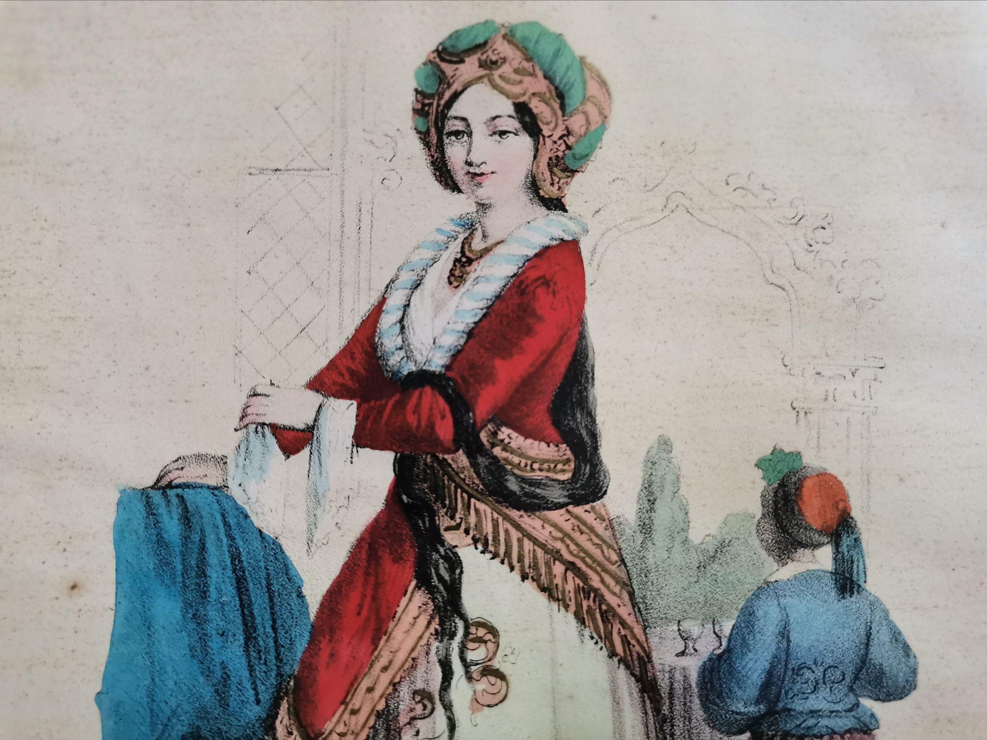 Турчанка. Фрагмент редкой генуэзской литографии 1855 года из архива нашей редакции.