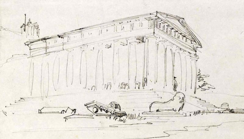 Музеум древностей на рисунке У. Симпсона (1855 г.)