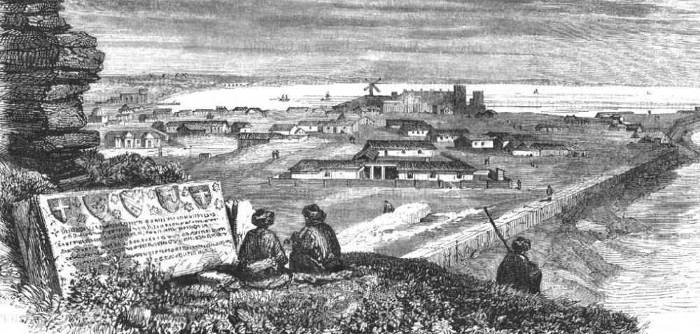 Феодосия. Рисунок Пьер-Эжена Грансира, 1856 г. Из личного архива нашей редакции.