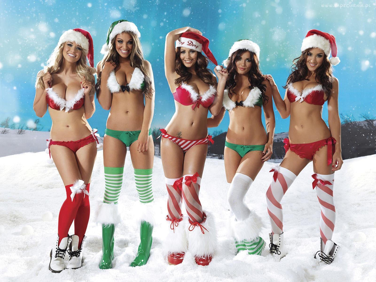 Сексуальные новогодние девушки @ m1bar.com