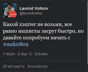 волков твит