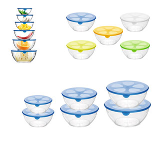 103 Набор мисок для пищевых продуктов PRESTO, 6 шт.