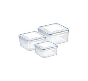 105 Контейнер FRESHBOX 3 шт., 0.4 л, 0.7 л, 1.2 л, квадратный