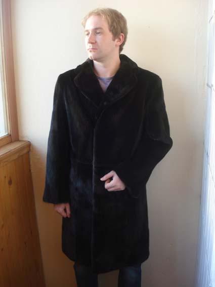 Мужское пальто из норки блэкглама