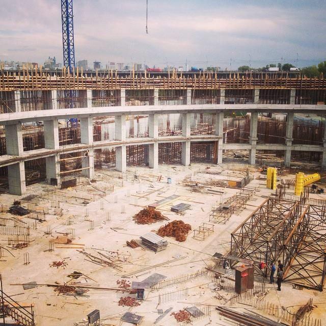 Строительство аквапарка, Новосибирск