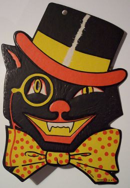 some of the popular themes for vintage halloween collectibles are pretty much what youd expect lots of jack olanterns skeletons and black cats - German Halloween Decorations