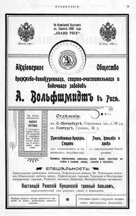Водка в путеводителе 1901 г