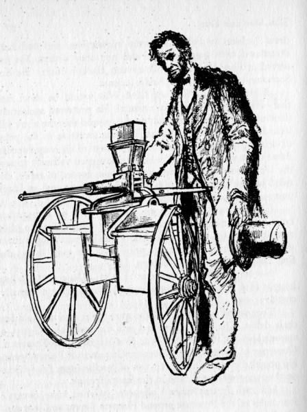 Линкольн с пулеметом
