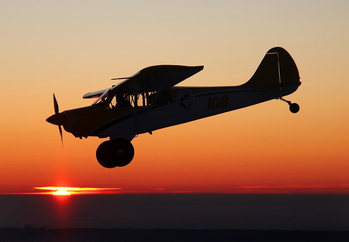 HuskyA1C-sunset-flight