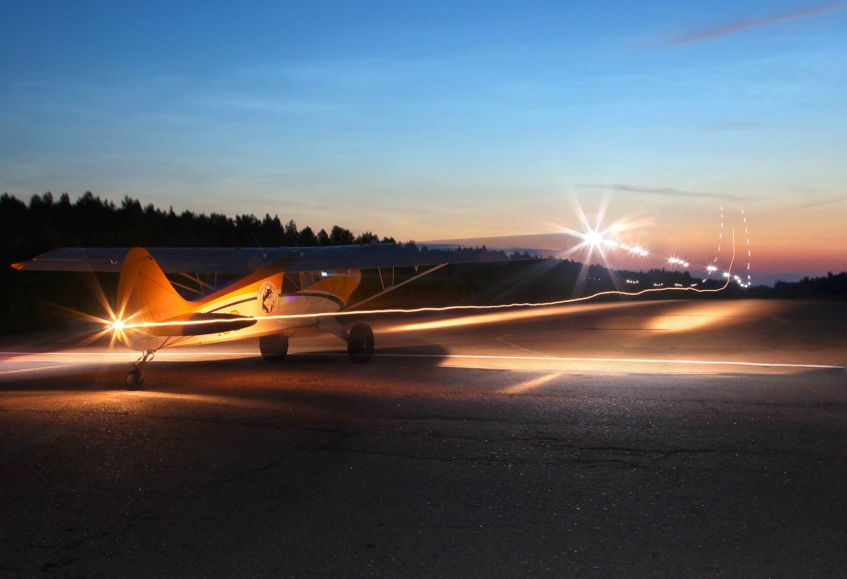 Husky-A-1C-nighttakeoff