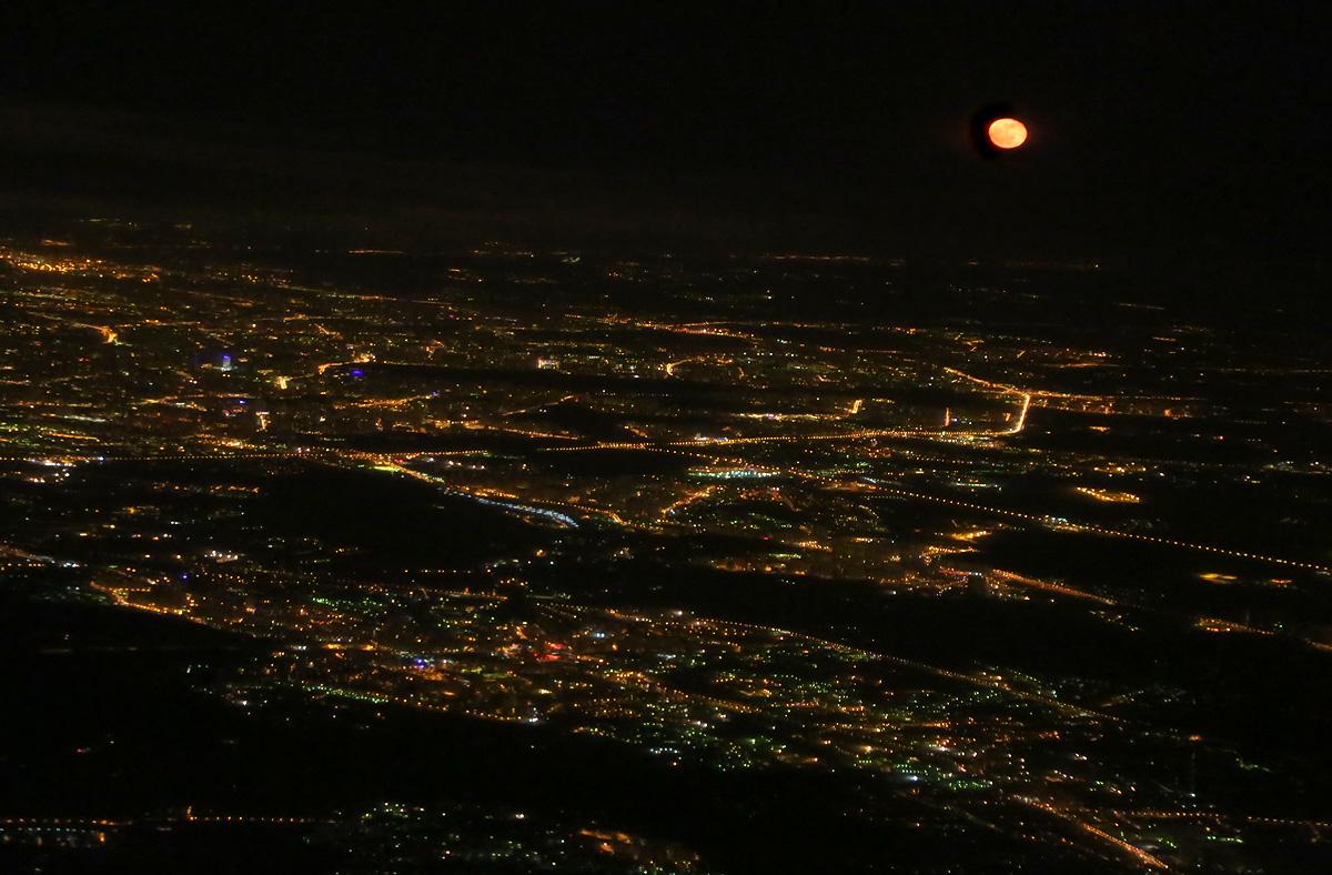 59612 original Ночной Питер с высоты птичьего полета
