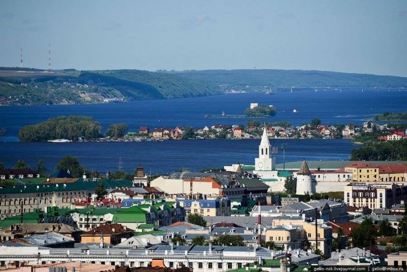 Вид на Казанку и Волгу от Казани