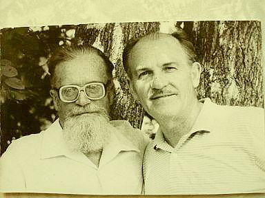 Л.С. Колобов (слева) 1994