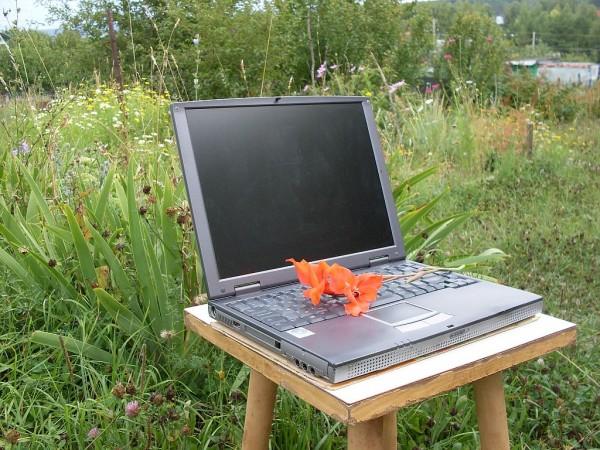 Мой старый ноутбук на даче