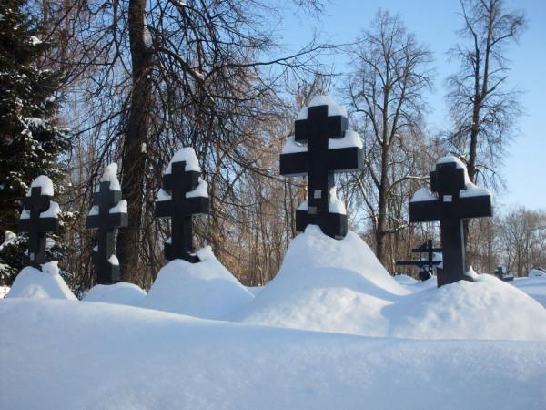 Арское кладбище-1 зимой 2011