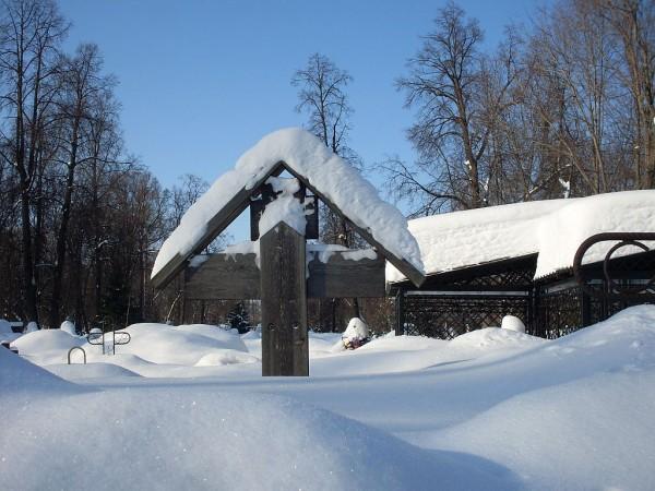 Арское кладбище-3 зимой 2011