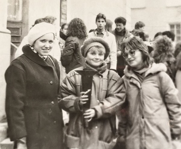 Ольга Миронович студенткой