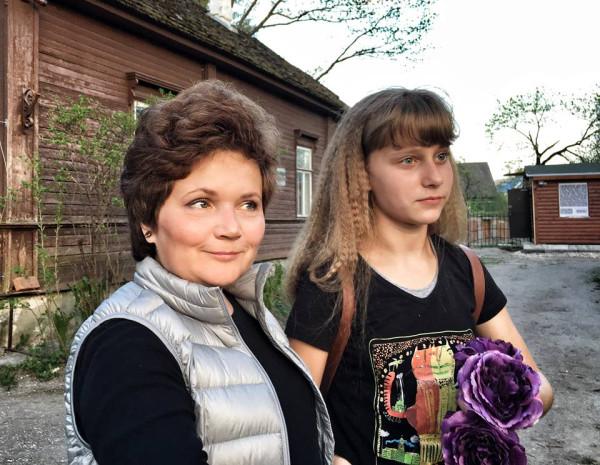 Ольга Миронович с дочей Глафирой