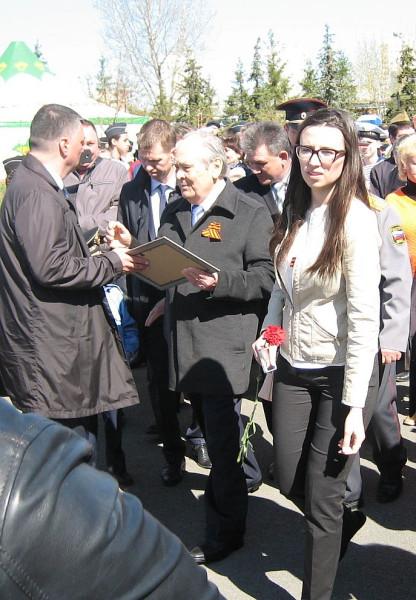 Шаймиев М.Ш. с народом 9 мая 2018