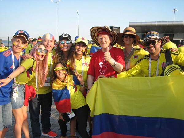 Егоров среди колумбийцев 24 июня 18