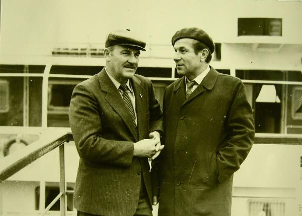 Савельев Анатолий (справа) 1990 год